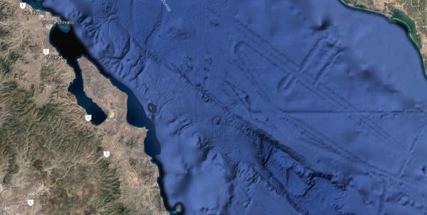 d a golfo de california extraña formacion