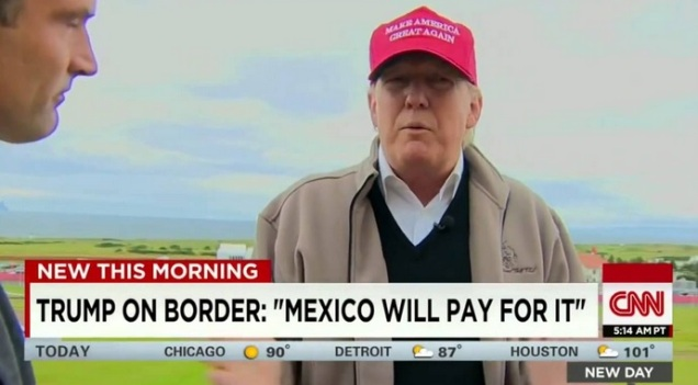 d trump mexico will pay for the wall