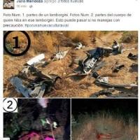 Funcionario municipal de #La PazBCS reveló fotos del accidente del #Lamborghini