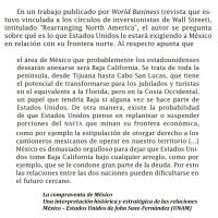 Razones por las que EEUU tomará pronto posesión de la península de Baja California --DOCUMENTOS
