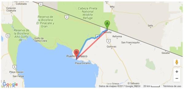 D A A LA MESILLA puerto peñasco mapa