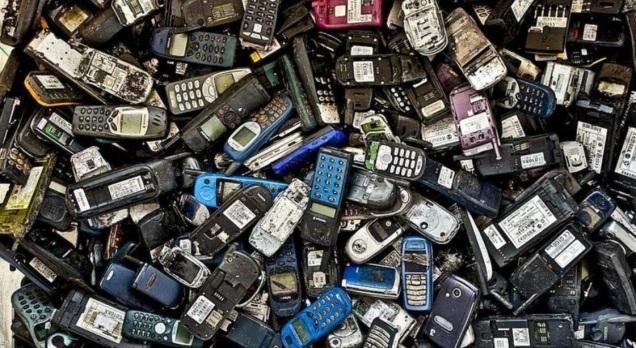 d a a a basura telefonos celulares