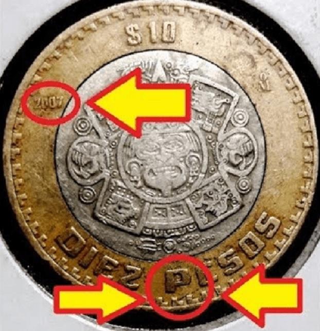 d a a a moneda de diez pesos