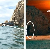 Fenómenos climáticos desparecen la Playa del Amor en Cabo San Lucas