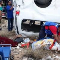 La candidata a la presidencia de México MARICHUY sufrió accidente en Baja California Sur