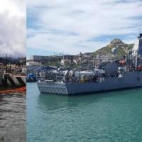 En Cabo San Lucas dos buques de la Armada de Estados Unidos