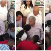 Identidad de la mujer que encaró a AMLO en mítin de La Paz