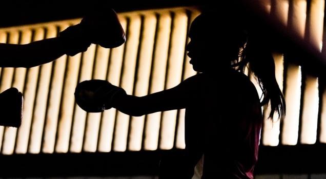 d a a a a a entrenador de box guerrero negro