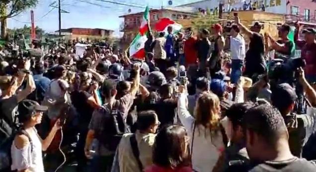 d a a a manifestacion tijuana albergue migrantes