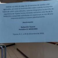 Al borde de la quiebra el periódico El Mexicano de Tijuana... ¡Ya no se publica!