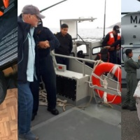 Rescate de la Armada de México en Océano Pacífico cerca de Guerrero Negro