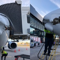 Dron contra avión de Aeroméxico en aeropuerto de Tijuana