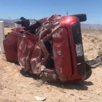 Grave la estudiante de la UABC que destrozó su vehículo