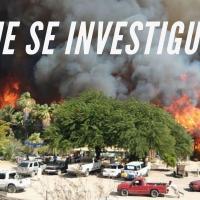 ¡Incendio en San Ignacio pudo tener origen en apagones de CFE!
