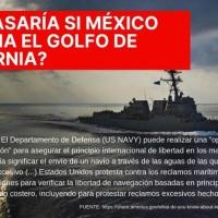 Patrullaje en aguas internacionales del Mar de Cortés buque de EEUU