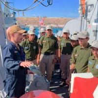 Visita el buque de guerra USS Ardent el puerto de La Paz BCS