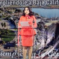 Mensaje de Claudia Agatón en el sexto municipio de San Quintín